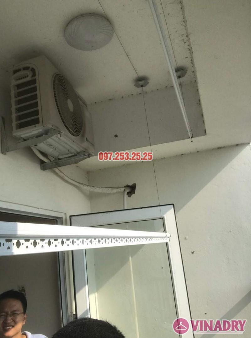 Lắp giàn phơi Hòa Phát giá rẻ nhà anh Mỹ, chung cư HH3 Linh Đàm, Hà Nội - 05