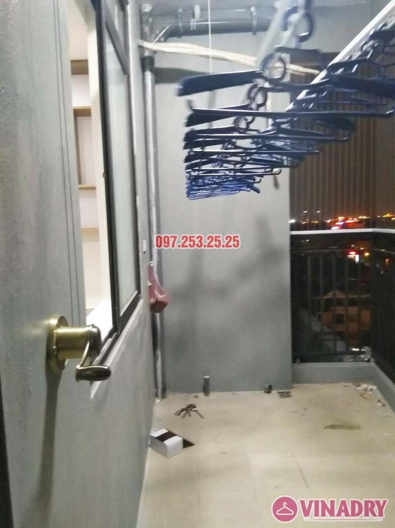 Lắp giàn phơi thông minh và lưới an toàn nhà chị Nga, chung cư Sài Đồng Lake View - 01