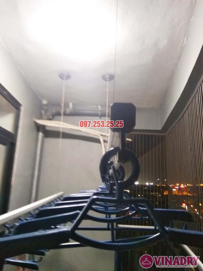 Lắp giàn phơi thông minh và lưới an toàn nhà chị Nga, chung cư Sài Đồng Lake View - 02