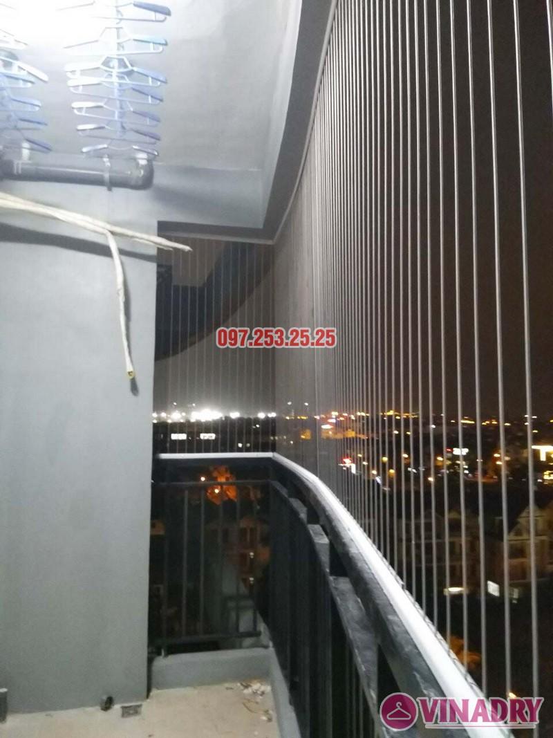 Lắp giàn phơi thông minh và lưới an toàn nhà chị Nga, chung cư Sài Đồng Lake View - 03