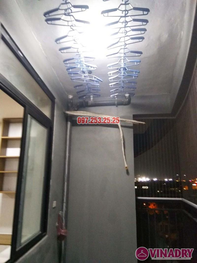Lắp giàn phơi thông minh và lưới an toàn nhà chị Nga, chung cư Sài Đồng Lake View - 04