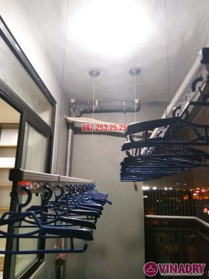 Lắp giàn phơi thông minh và lưới an toàn nhà chị Nga, chung cư Sài Đồng Lake View - 05