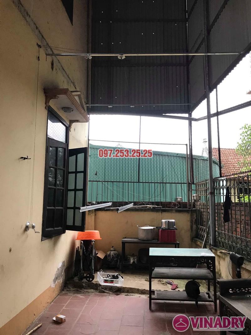 Lắp giàn phơi Hòa Phát KS990 nhà anh Đăng, La Phù, Hoài Đức, Hà Nội - 01