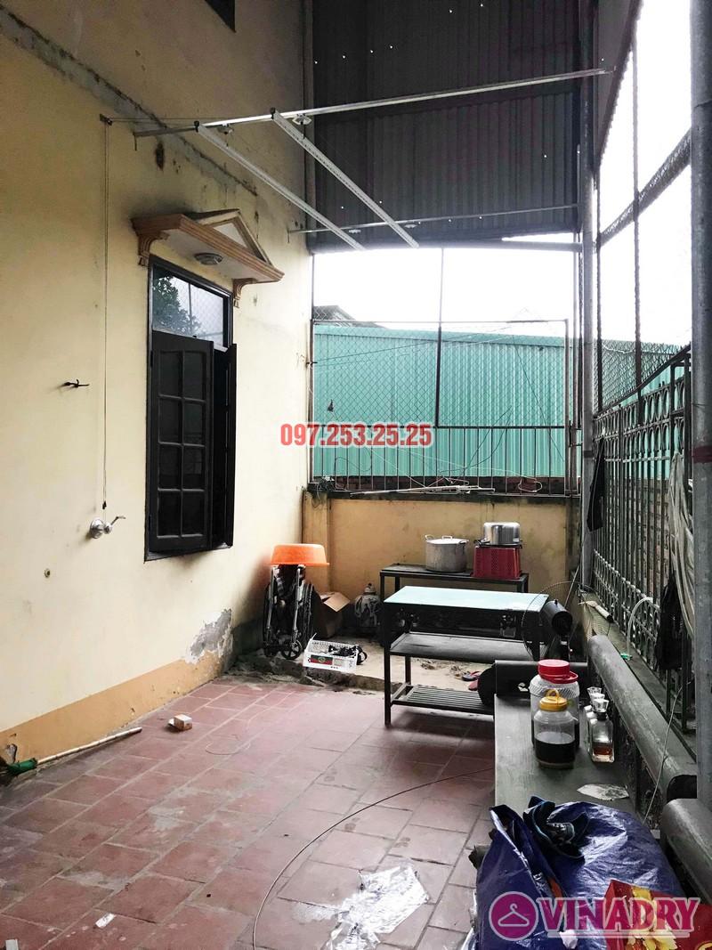 Lắp giàn phơi Hòa Phát KS990 nhà anh Đăng, La Phù, Hoài Đức, Hà Nội - 05