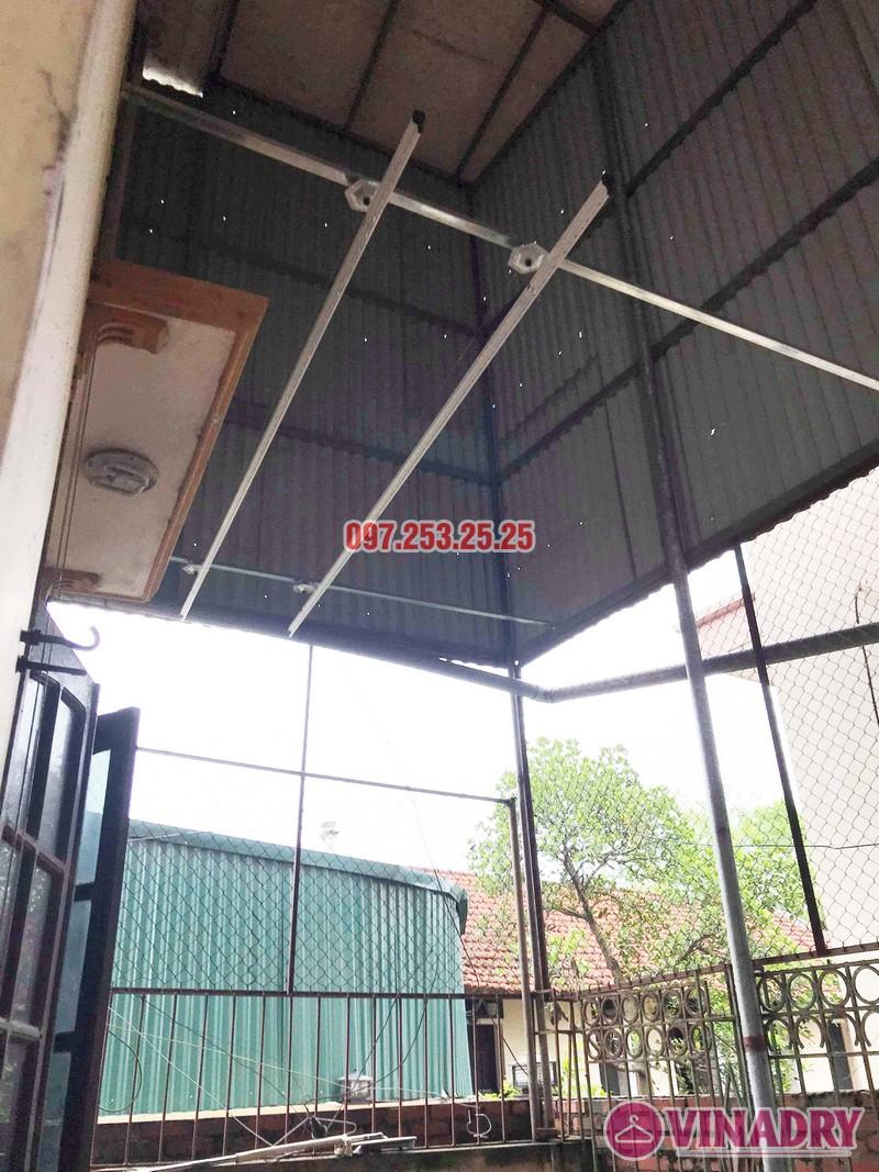 Lắp giàn phơi Hòa Phát KS990 nhà anh Đăng, La Phù, Hoài Đức, Hà Nội - 07