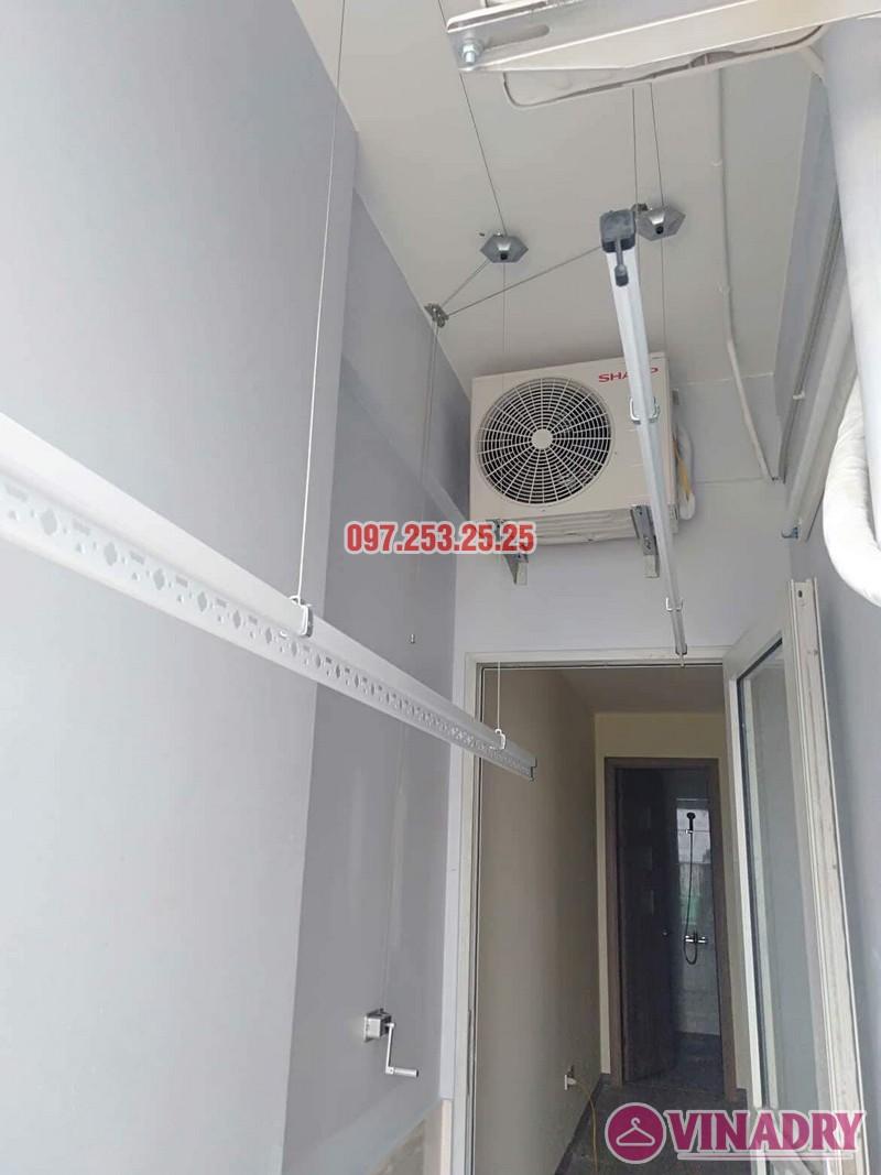 Lắp giàn phơi Hòa phát giá rẻ HP368 nhà chị My, chung cư 536A Minh Khai - 01