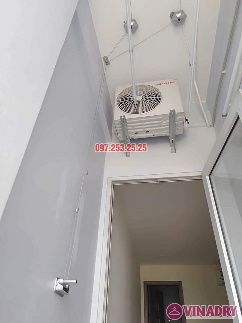 Lắp giàn phơi Hòa phát giá rẻ HP368 nhà chị My, chung cư 536A Minh Khai - 03