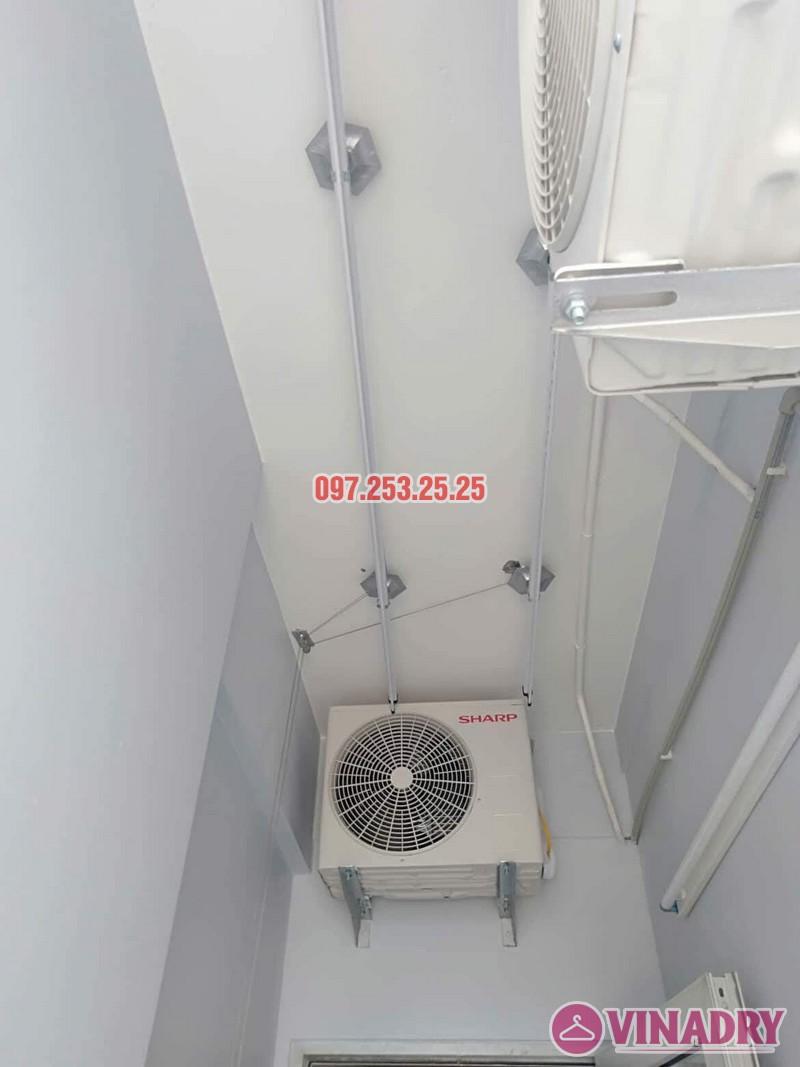 Lắp giàn phơi Hòa phát giá rẻ HP368 nhà chị My, chung cư 536A Minh Khai - 04