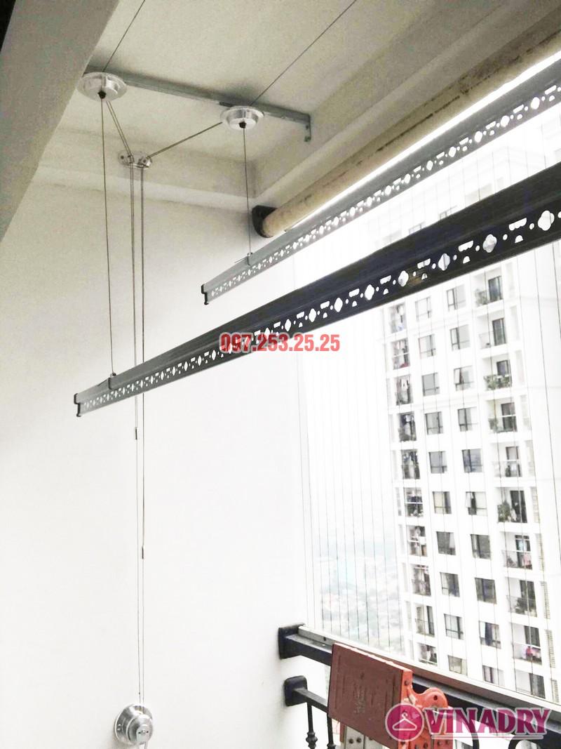 Lắp giàn phơi Hòa Phát Star tại Times City nhà chị Hà, Tòa T9 - 01
