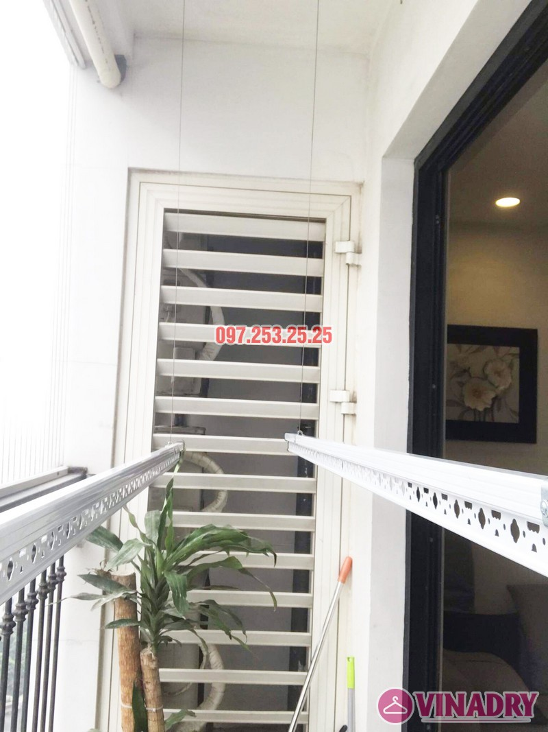 Lắp giàn phơi Hòa Phát Star tại Times City nhà chị Hà, Tòa T9 - 07