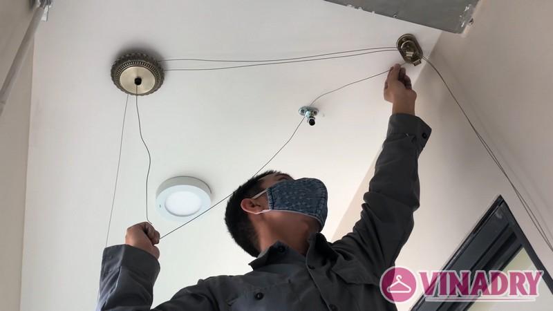 Lắp giàn phơi Vinadry mẫu mới 2019 tại nhà chị Hạnh, căn 808, Tòa B the Legend, 109 Nguyễn Tuân - 03