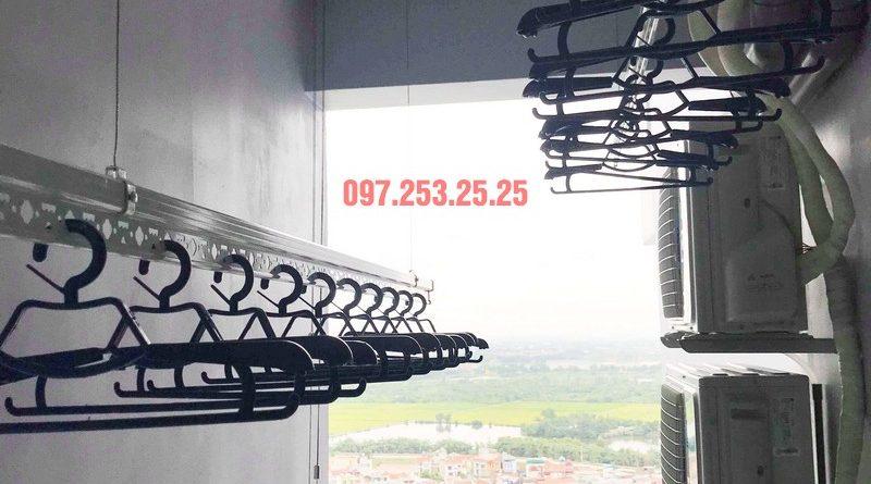 Lắp giàn phơi thông minh cao cấp nhà anh Hải, KĐT Gamuda Garden - 05