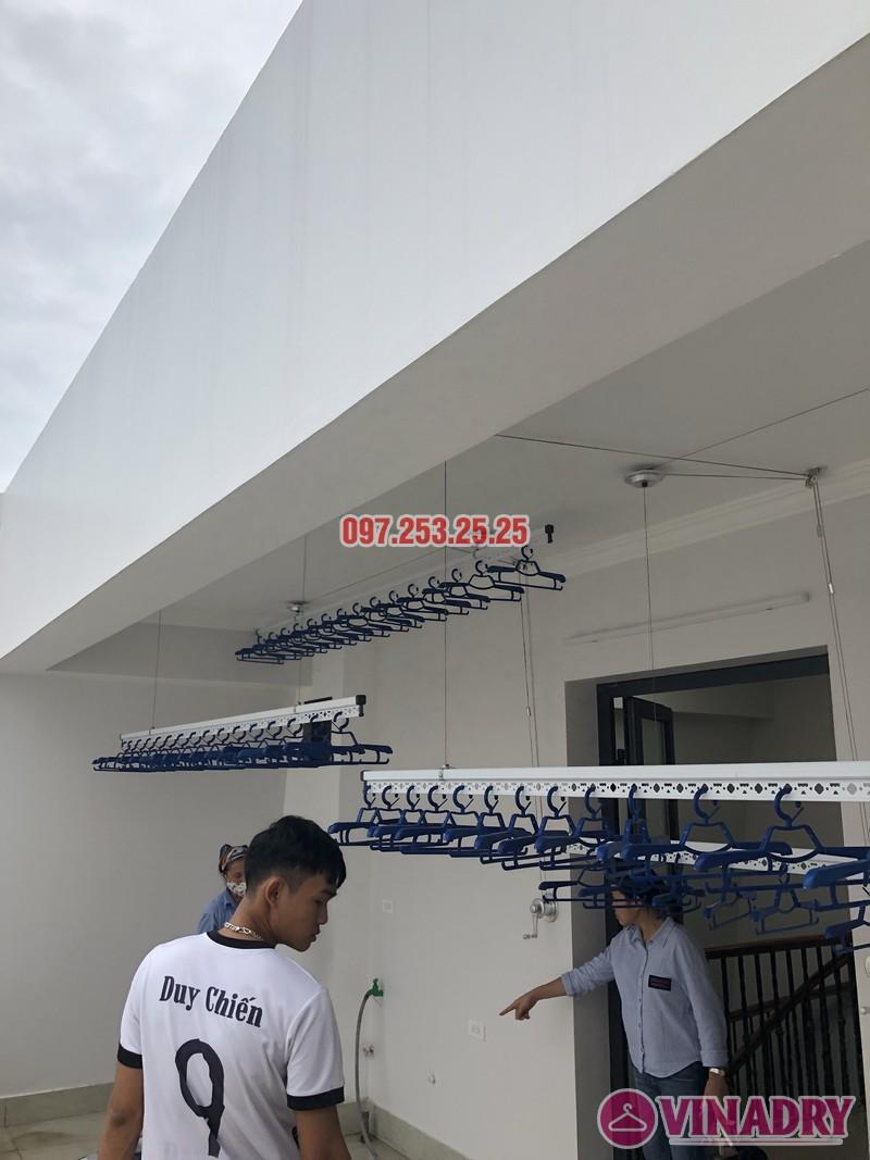 Lắp 2 bộ giàn phơi Hòa Phát nhà anh Hùng, số 10, ngõ 264/21/55 Ngọc Thụy, Long Biên - 05