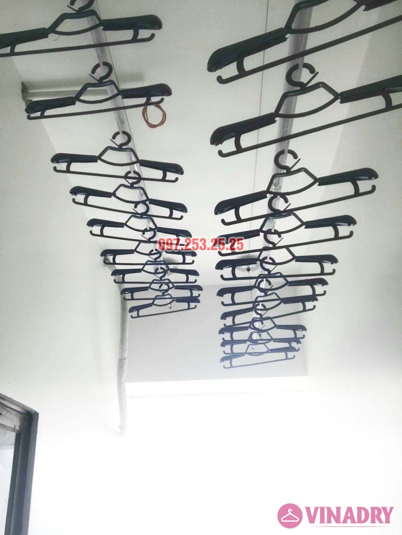 Lắp giàn phơi quần áo tại Long biên nhà chị Nhài, chung cư Valencia Garden - 01