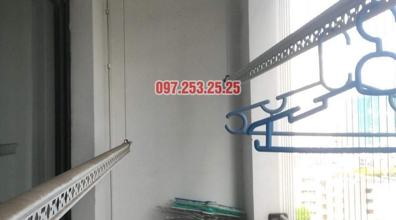 Sửa giàn phơi tại nhà giá rẻ: sửa giàn phơi nhà chị Hạnh, Tòa T4, Times City - 05