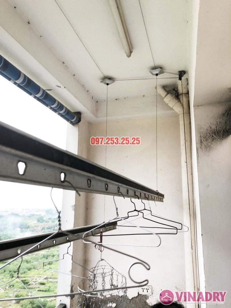 Thay dây cáp giàn phơi thông minh nhà chú Đại, P1201 Chung cư học viện Quốc Phòng - 02