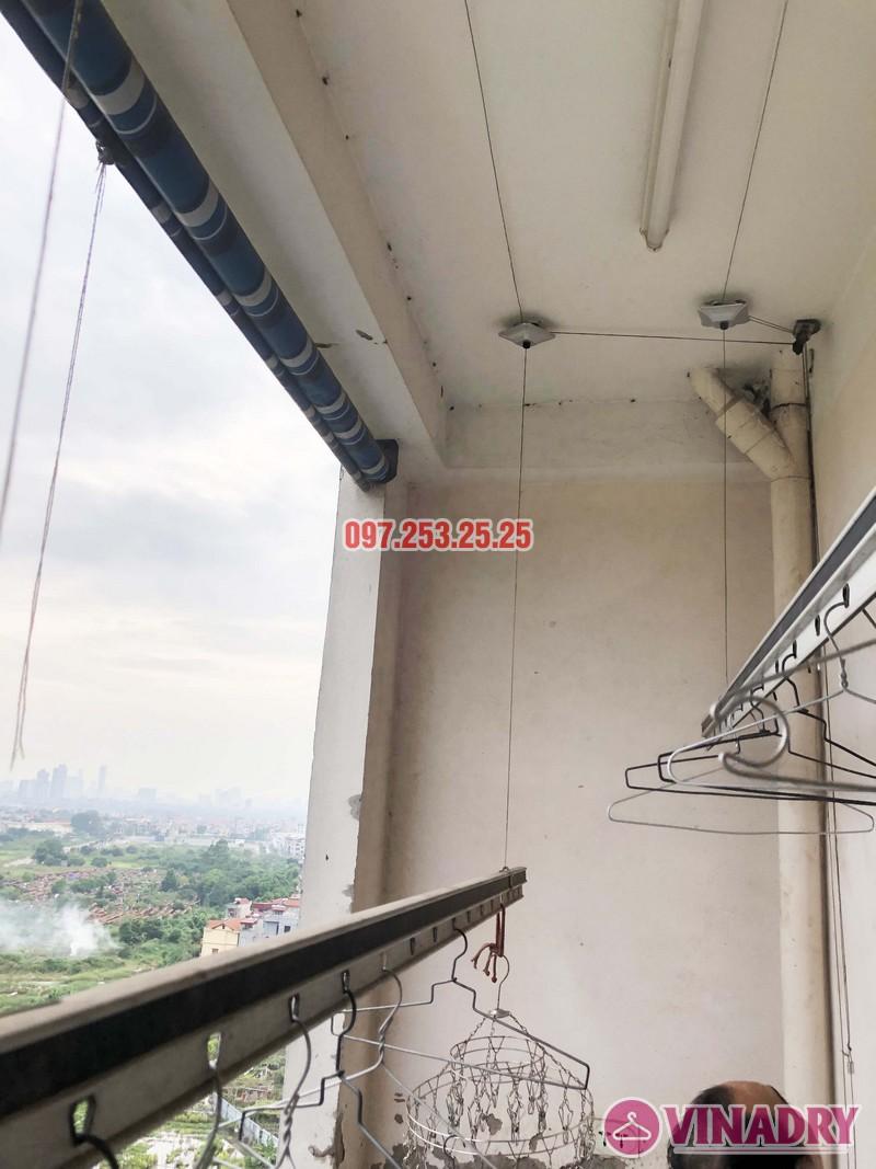Thay dây cáp giàn phơi thông minh nhà chú Đại, P1201 Chung cư học viện Quốc Phòng - 03
