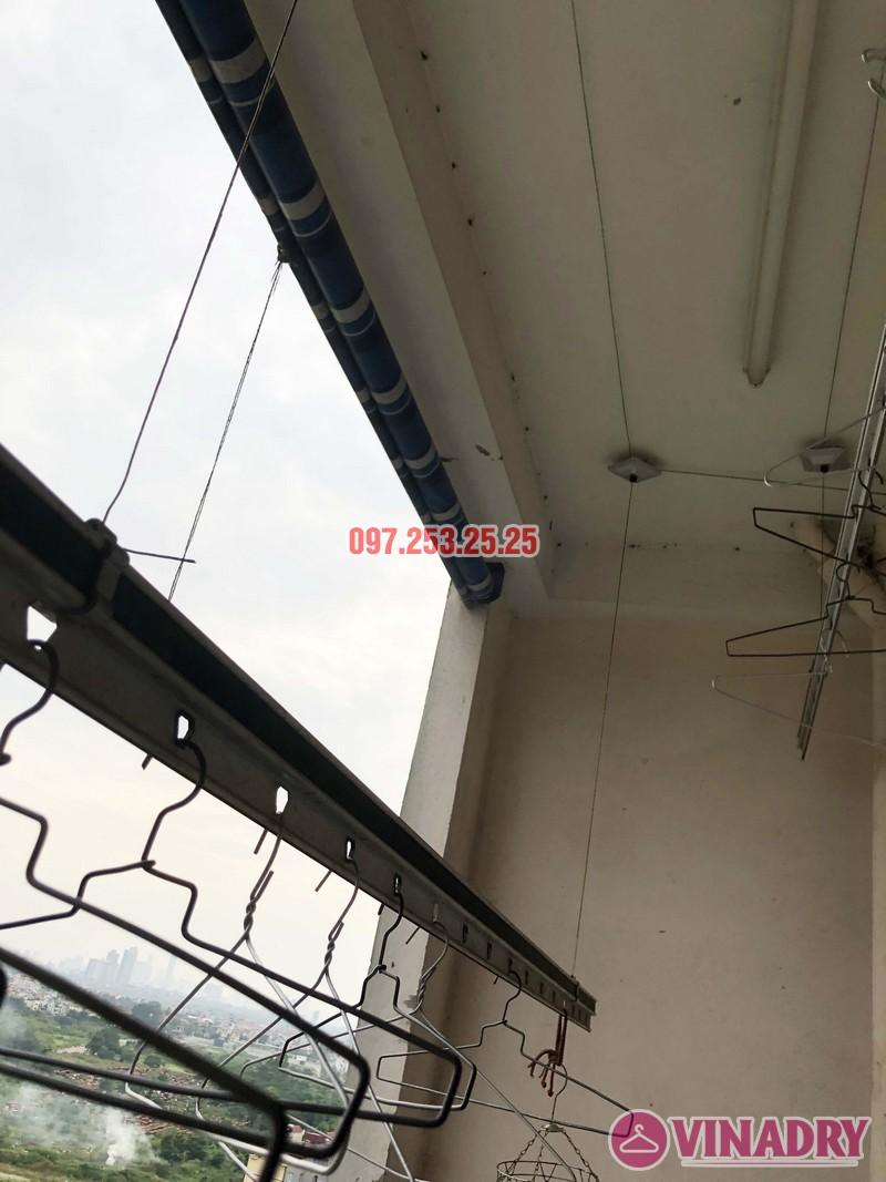 Thay dây cáp giàn phơi thông minh nhà chú Đại, P1201 Chung cư học viện Quốc Phòng - 04