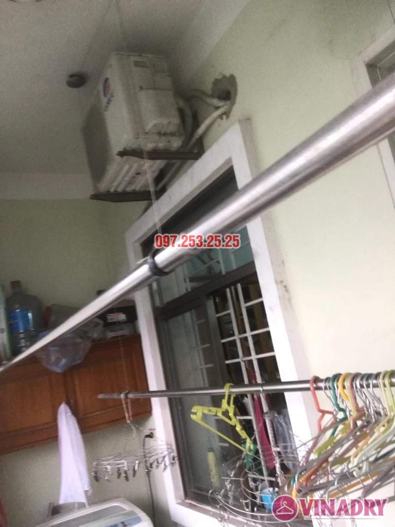 Sửa giàn phơi quần áo tại Long Biên nhà anh Hậu, chung cư CT19 Việt Hưng - 03