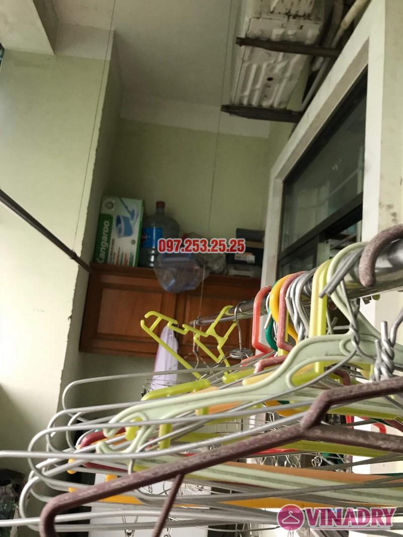 Sửa giàn phơi quần áo tại Long Biên nhà anh Hậu, chung cư CT19 Việt Hưng - 05