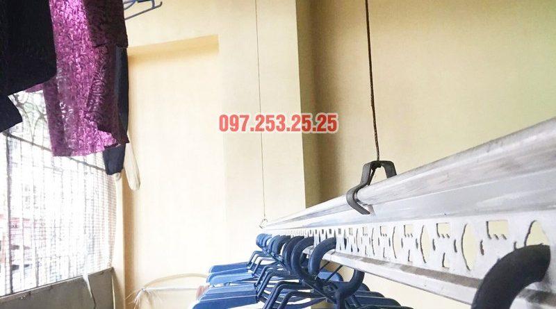 Thay dây cáp giàn phơi giá rẻ tại Hai Bà Trưng nhà cô Hợi, ngõ 191A/38 Đại La - 01