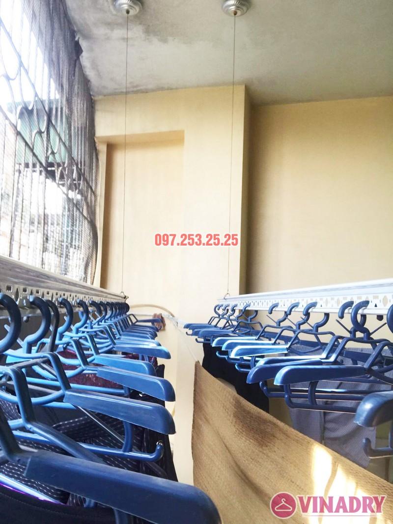 Thay dây cáp giàn phơi giá rẻ tại Hai Bà Trưng nhà cô Hợi, ngõ 191A/38 Đại La - 02
