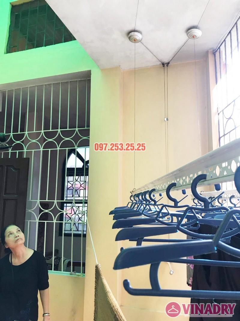 Thay dây cáp giàn phơi giá rẻ tại Hai Bà Trưng nhà cô Hợi, ngõ 191A/38 Đại La - 05