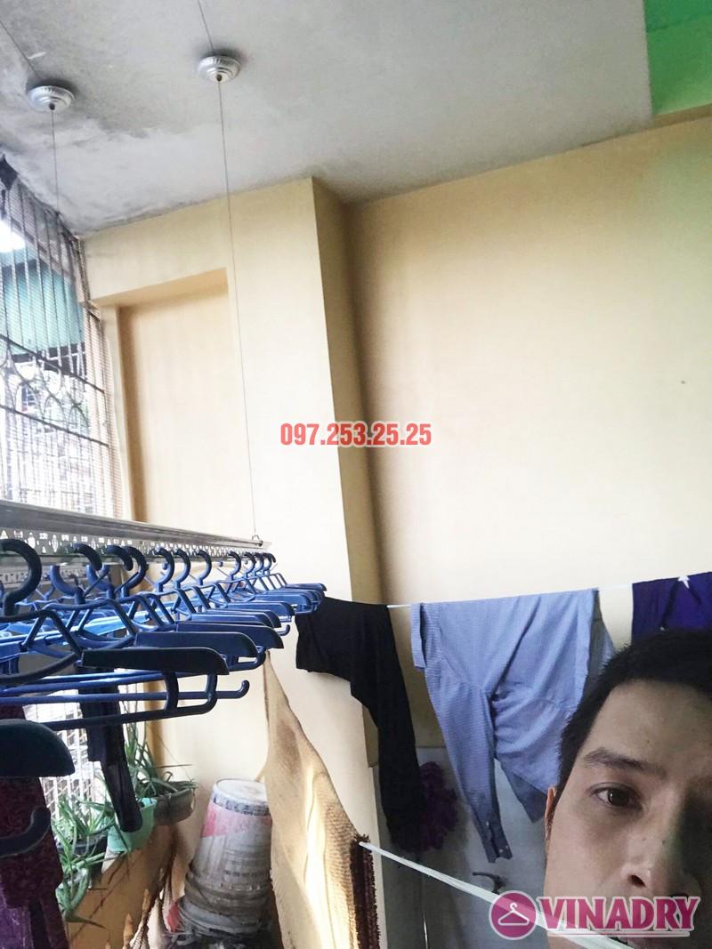 Thay dây cáp giàn phơi giá rẻ tại Hai Bà Trưng nhà cô Hợi, ngõ 191A/38 Đại La - 07