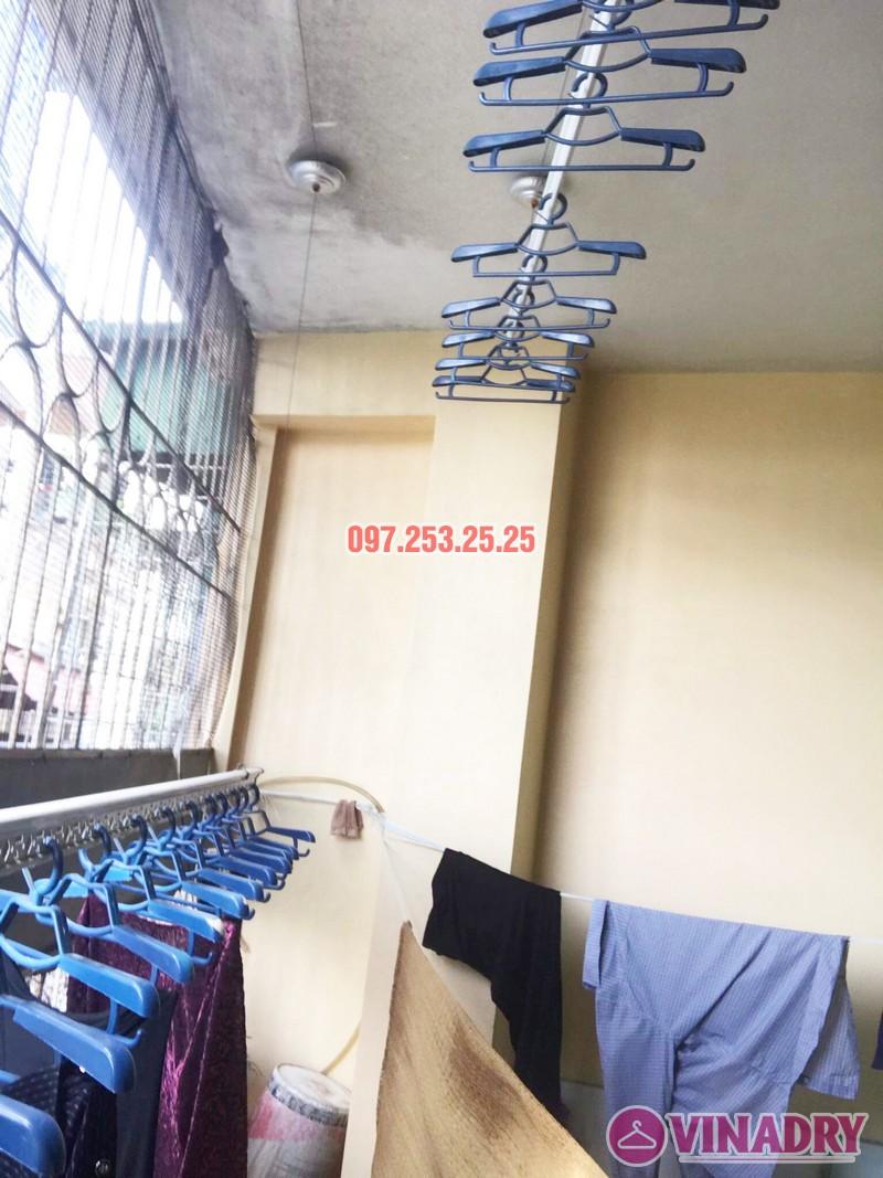 Thay dây cáp giàn phơi giá rẻ tại Hai Bà Trưng nhà cô Hợi, ngõ 191A/38 Đại La - 08