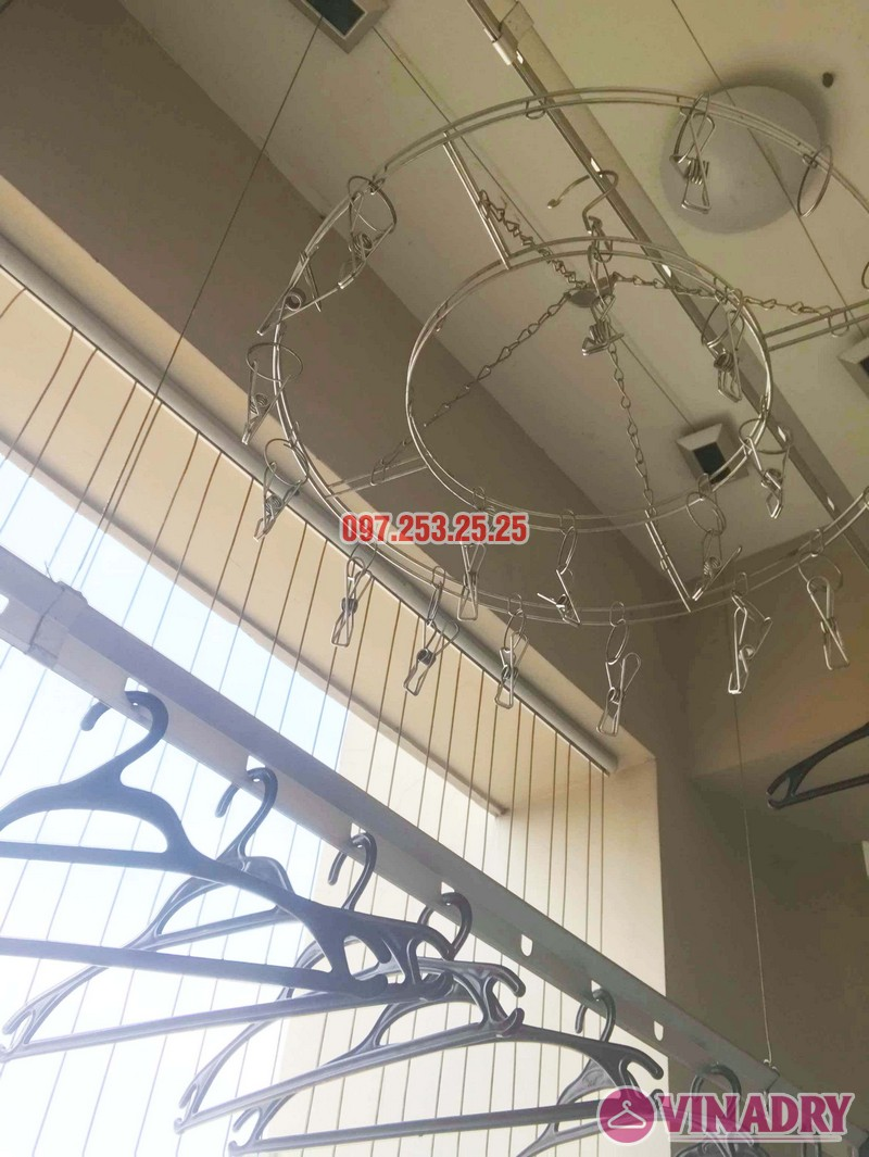 Thay bộ tời giàn phơi thông minh nhà anh Mạnh, chung cư Hapulico Complex - 04