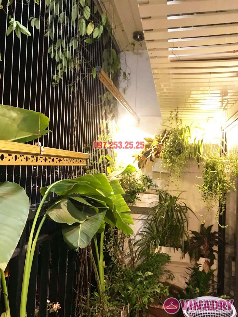 Sửa thay cáp giàn phơi thông minh nhà chị Ngân, chung cư Hateco Hoàng Mai - 01