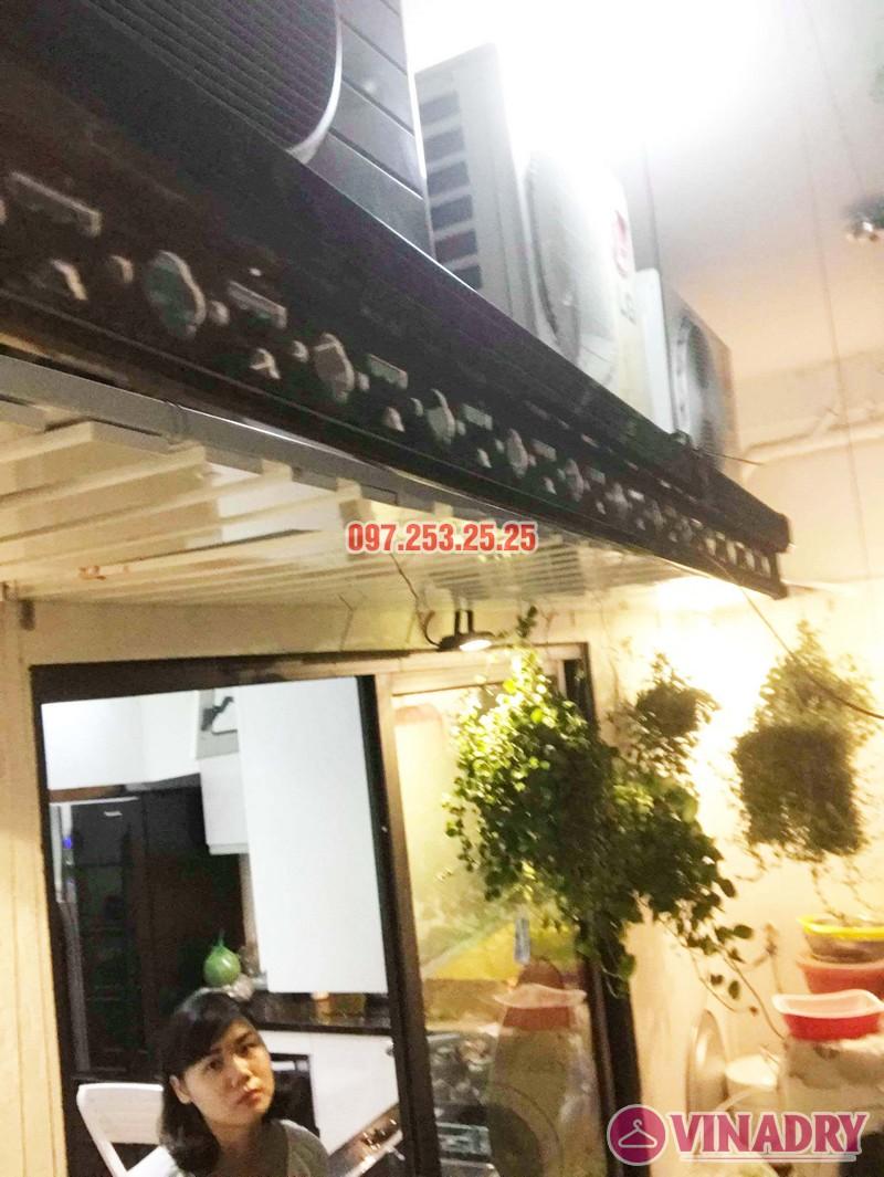 Sửa thay cáp giàn phơi thông minh nhà chị Ngân, chung cư Hateco Hoàng Mai - 02