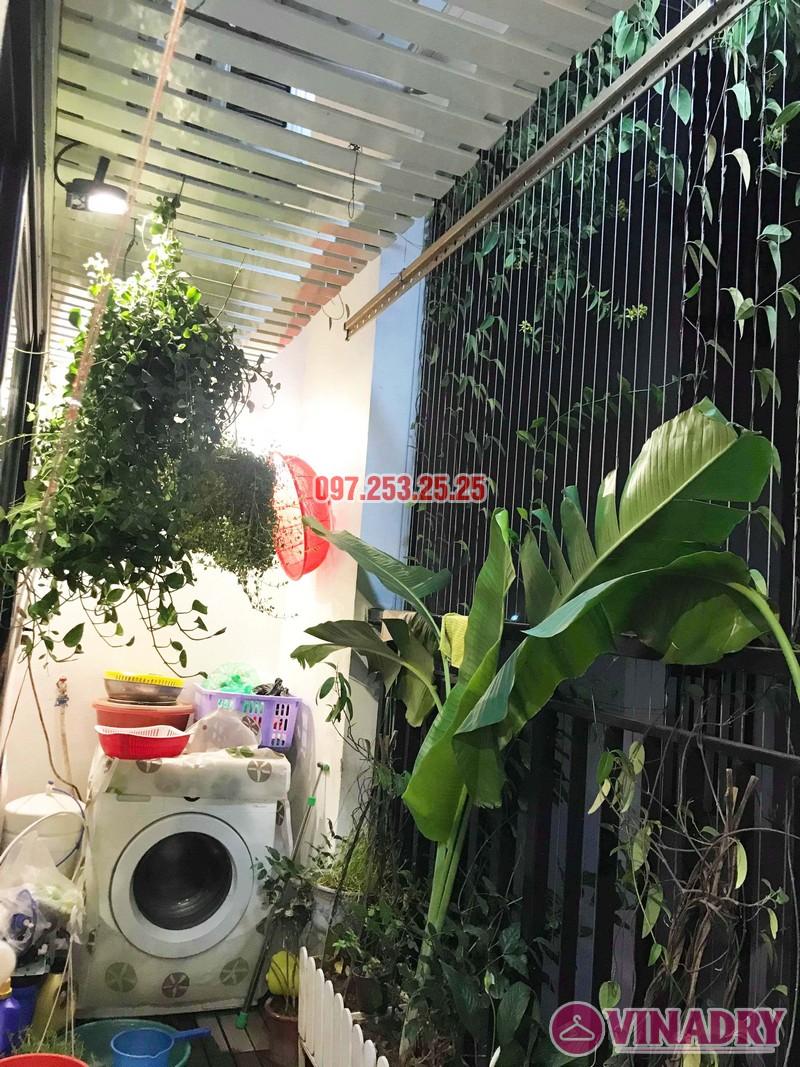 Sửa thay cáp giàn phơi thông minh nhà chị Ngân, chung cư Hateco Hoàng Mai - 05