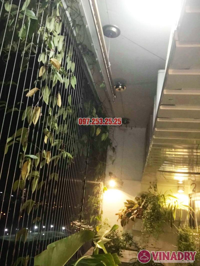 Sửa thay cáp giàn phơi thông minh nhà chị Ngân, chung cư Hateco Hoàng Mai - 07