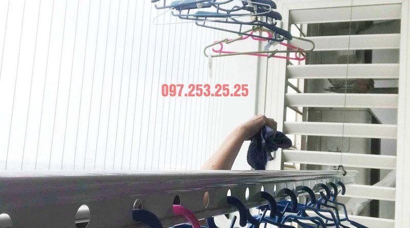 Sửa giàn phơi thông minh giá rẻ tại Hà Nội nhà chị Mai, Tòa T8, Times City - 04