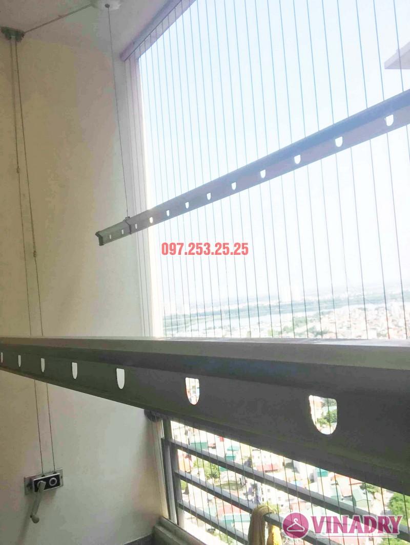 Thay dây cáp giàn phơi giá rẻ nhà chị Hạnh, chung cư HH3C Linh Đàm - 02