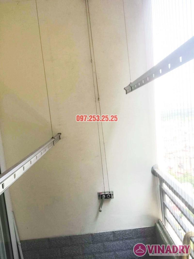 Thay dây cáp giàn phơi giá rẻ nhà chị Hạnh, chung cư HH3C Linh Đàm - 03