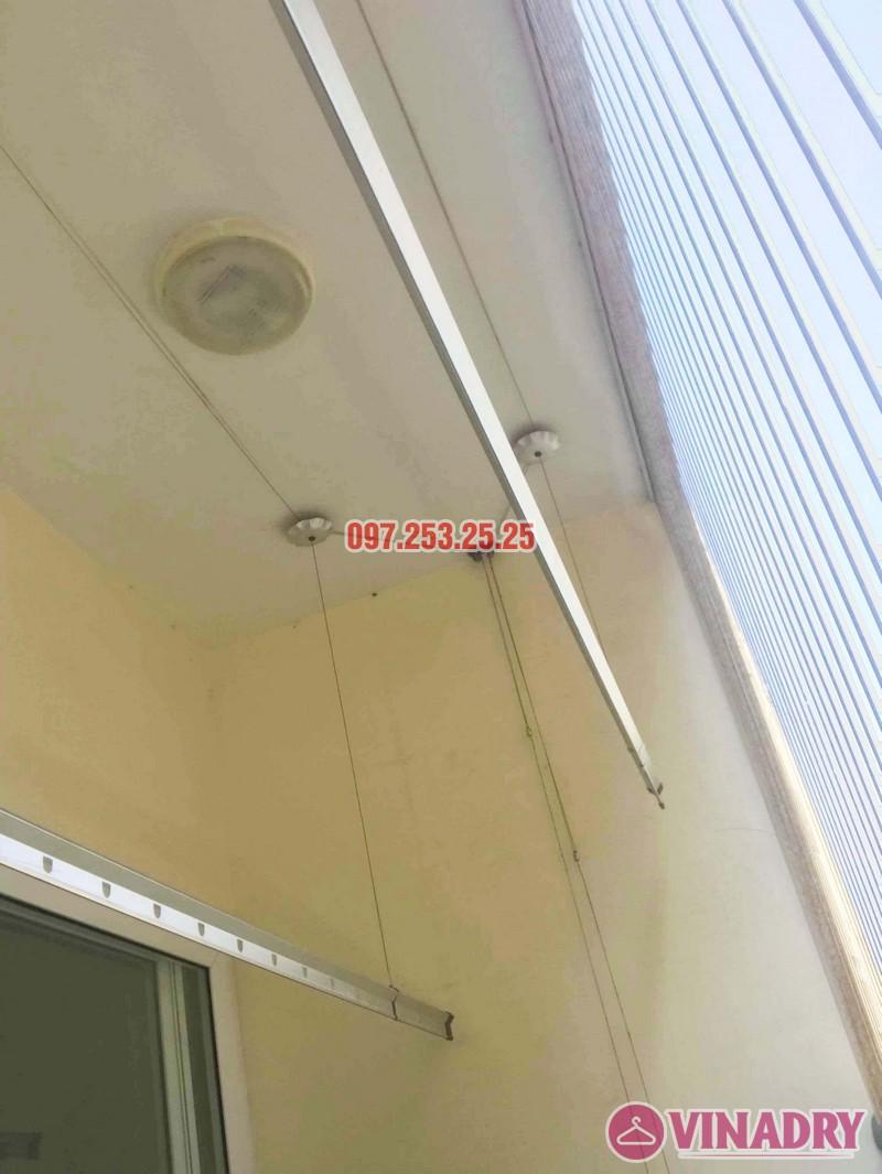 Thay dây cáp giàn phơi giá rẻ nhà chị Hạnh, chung cư HH3C Linh Đàm - 04