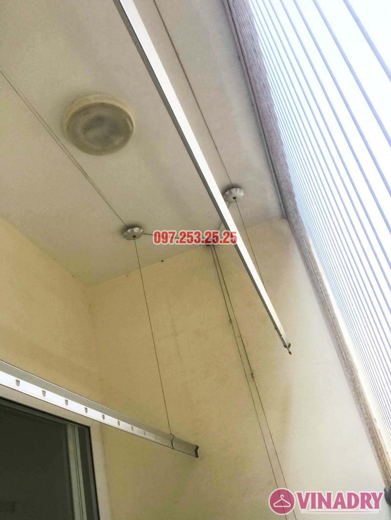 Thay dây cáp giàn phơi giá rẻ nhà chị Hạnh, chung cư HH3C Linh Đàm - 05