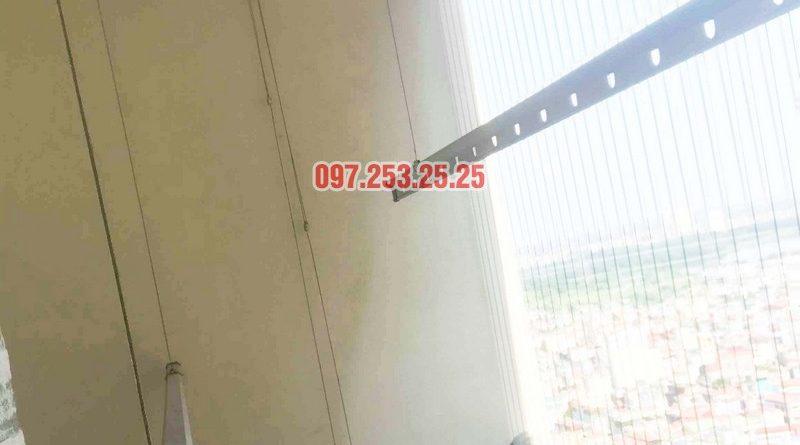 Thay dây cáp giàn phơi giá rẻ nhà chị Hạnh, chung cư HH3C Linh Đàm - 06