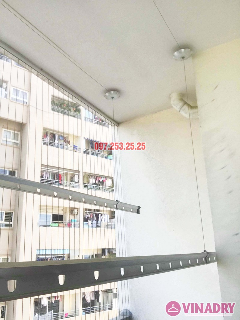 Thay dây cáp giàn phơi giá rẻ nhà chị Hạnh, chung cư HH3C Linh Đàm - 07