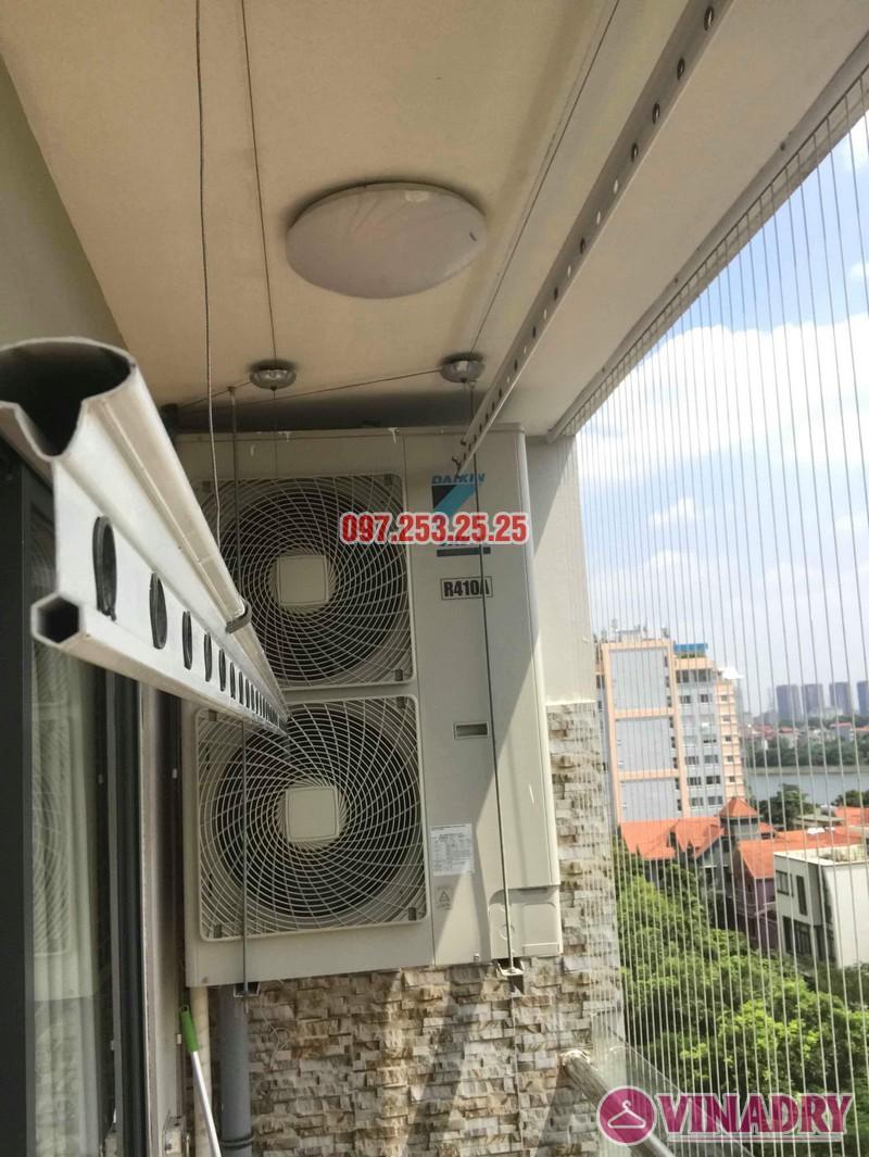 Thay dây cáp giàn phơi giá rẻ nhà chị Nhung, chung cư VP4 Linh Đàm, Hoàng Mai, Hà Nội - 03