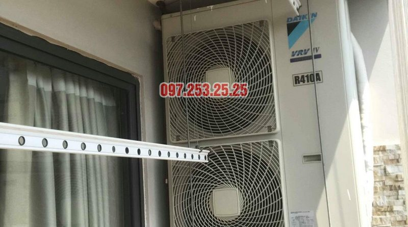 Thay dây cáp giàn phơi giá rẻ nhà chị Nhung, chung cư VP4 Linh Đàm, Hoàng Mai, Hà Nội - 04