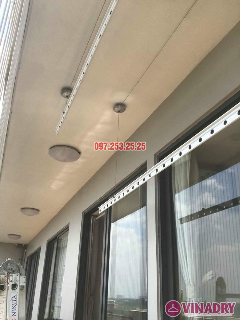 Thay dây cáp giàn phơi giá rẻ nhà chị Nhung, chung cư VP4 Linh Đàm, Hoàng Mai, Hà Nội - 05
