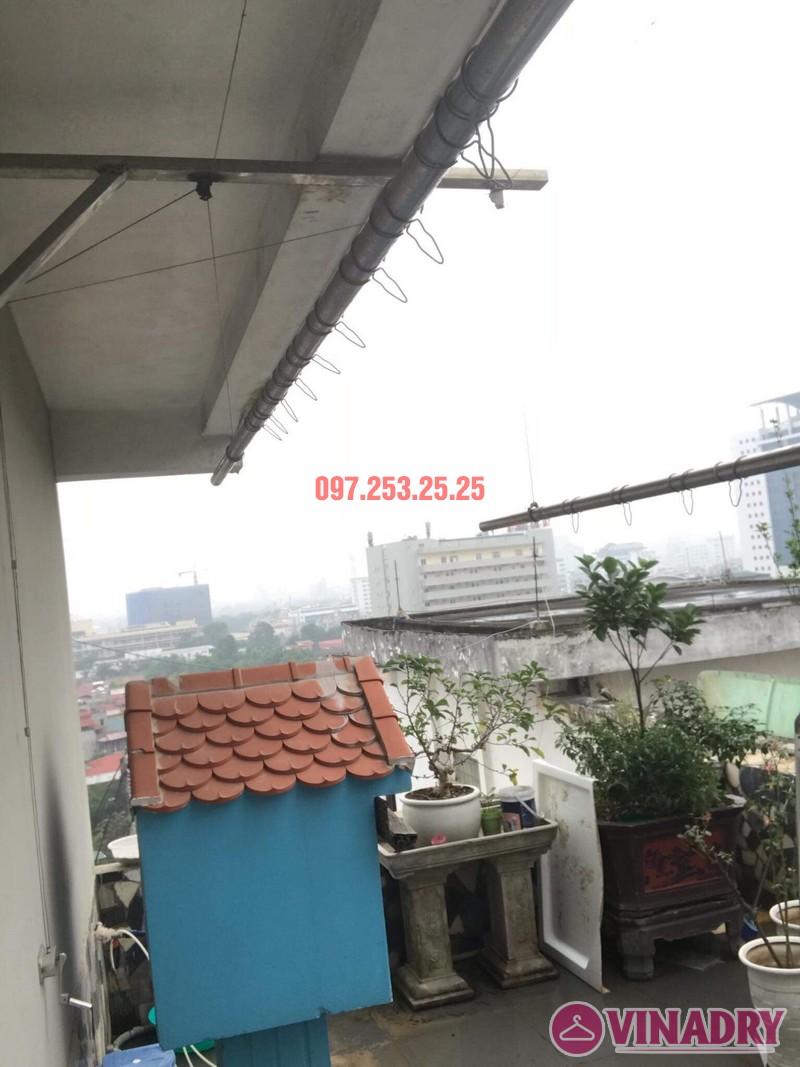 Thay dây giàn phơi thông minh nhà chị Yến, 20 Trường Trinh, Đống Đa, Hà Nội - 04