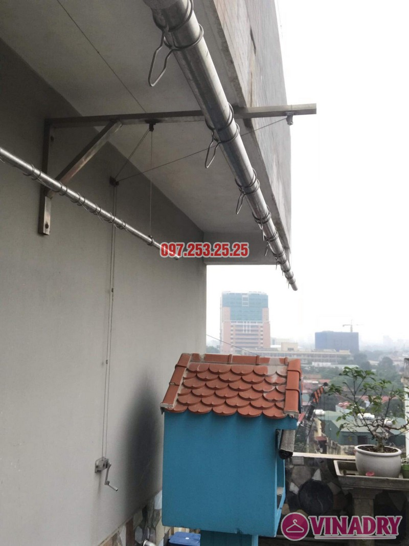 Thay dây giàn phơi thông minh nhà chị Yến, 20 Trường Trinh, Đống Đa, Hà Nội - 05