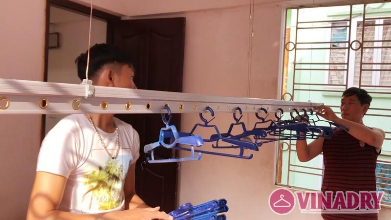 Lắp giàn phơi thông minh tại Ba Đình nhà anh Kiên, số 49 ngõ 88 Ngọc Hà - 05