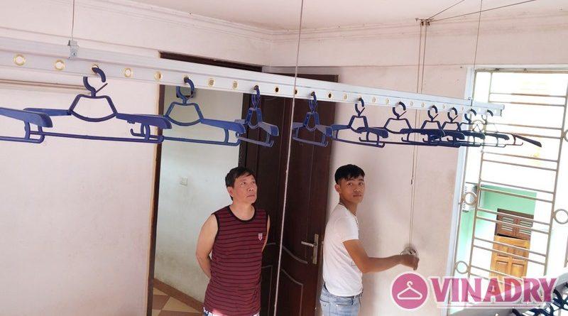Lắp giàn phơi thông minh tại Ba Đình nhà anh Kiên, số 49 ngõ 88 Ngọc Hà - 06