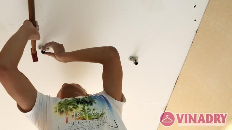 Lắp giàn phơi thông minh tại KĐT Resco Cổ Nhuế nhà anh Hà, căn 1407 tòa 3B - 02
