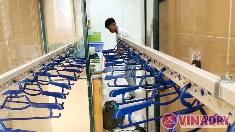 Lắp giàn phơi thông minh tại KĐT Resco Cổ Nhuế nhà anh Hà, căn 1407 tòa 3B - 07